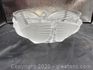 J.G. Durand French Glass Paloma Bowl