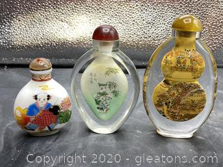 Asian Snuff Jars
