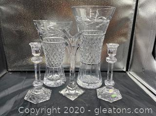 Collection of Galway Crystal Home Decor
