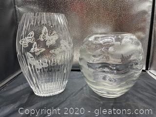 Cut Glass Decorative Vases