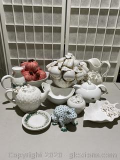 Collection of Porcelain Home Decor