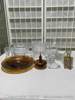 Collection of Cut Glass & Crystal Home Decor