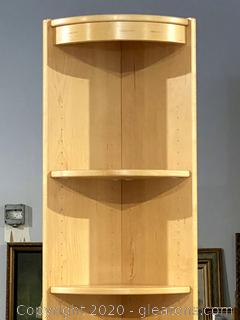 Blonde Teak Veneer Display Shelf