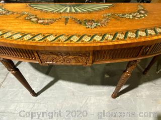 Maitland Smith Handmade Crescent Hall Table