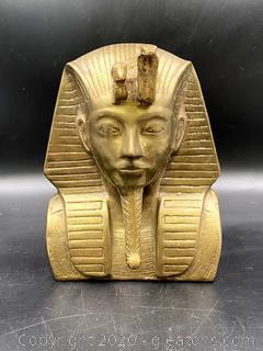 Bust of Bronze King Tutankhamun