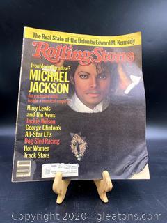 Rolling Stones Issue No417 Michael Jackson