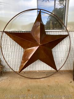 Rustic Metal Ranch Star Yard Art A