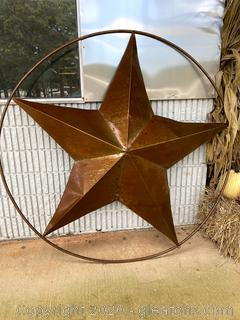 Rustic Metal Ranch Star Yard Art B