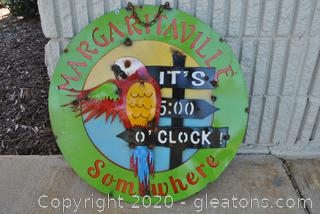 Forged Margaritaville Metal Art