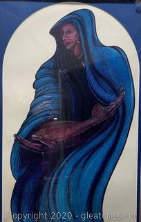 """Woman in Blue"" by Charles Bibbs A/P"
