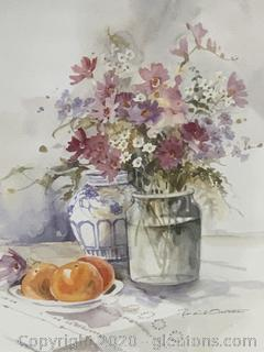 Summer Fruitland Flowers Still Life by Rosalind Osterle