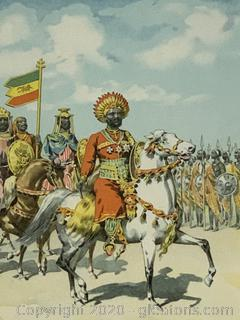 Colored Illustration of Menelik