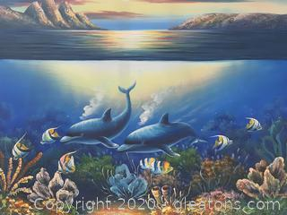 Oil Painting of Marine Life