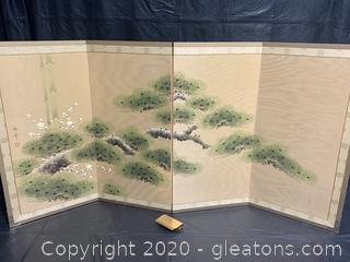 Pine Tree, Bamboo, and Plum Blossoms by Kiyohiko Nishida