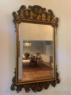Hand Painted Chinoiserie Wall Mirror