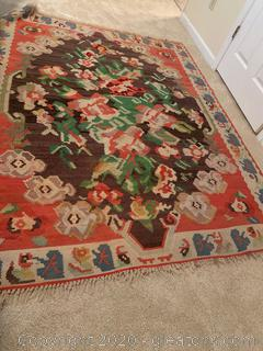 South Western Native Floral Patterned Rug