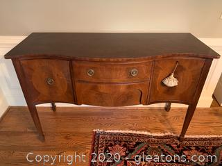 Burl Wood Serpentine Sideboard