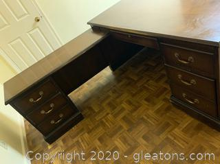 Indiana Desk Company L Shaped Bureau