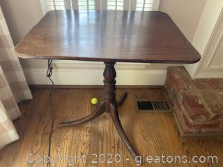 Antique Baluster Base Side Table