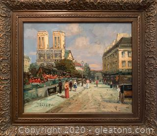 Painting of a Parisian Street Scene