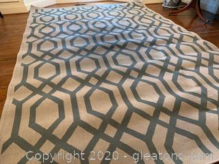 Indoor/Outdoor Print Large Area Rug