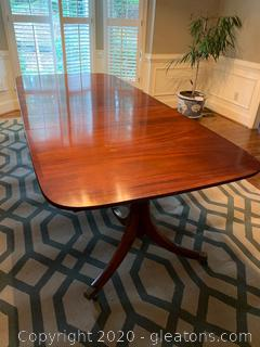 Rolling Regency Style Dining Table