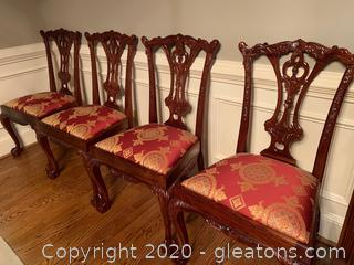 Mahogany Queen Anne Ball and Claw Chairs