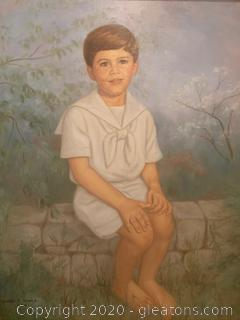 Commissioned Portrait of a Brunette Boy by June T. Dever (1994)