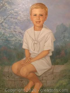 Commissioned Portrait of a Blond Boy by June T. Dever (1994)