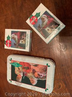 1953 Coca-Cola Christmas Playing Cards