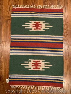 Hand Woven Small Indian Area Rug