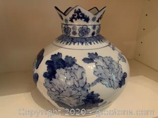 Antique Chinese Porcelain Crown Neck