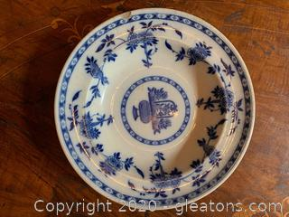 English Minton Delft Pattern Flow Plate