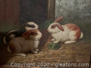 Social Bunnies By Unknown Artist