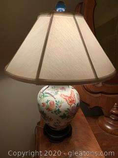 Spring Time Floral Porcelain Urn Table Lamp
