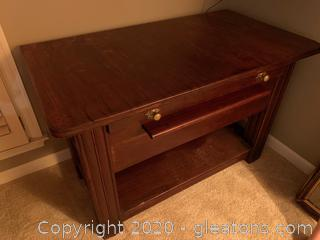 Cherry Credenza With Pull-Out Desk (B)