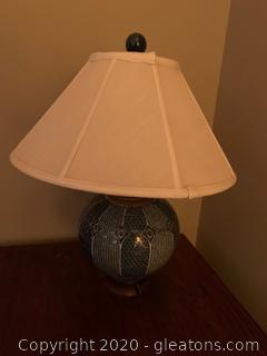 Mediteranin Porcelain Round Table Lamp