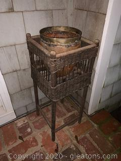 Wicker Standing Basket