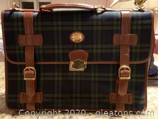 Luigi Plaid Briefcase