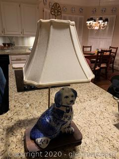 Porcelain Chinoiserie Dog Table Lamp