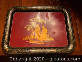 Decorative Mounted Chinoiserie Platter