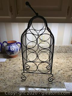Wired Cage Standing Bottle Holder