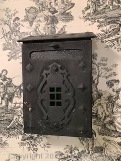 Front Opening Door Mounted Iron Mailbox