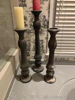 Floor Pillar Venetian Style Candle Holders