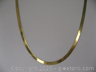 14kt Herringbone Chain