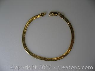 14Kt Herringbone Bracelet