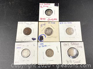 1800's US Coins