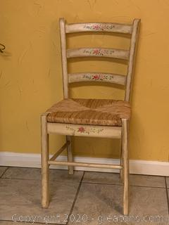 Rush Bottom Dining Chair (Floral,Aged)