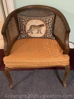 Round Back Rattan Armchair