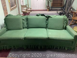 Green Plaid Sofa (B)